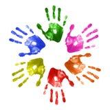 Impresiones de la mano Imagenes de archivo
