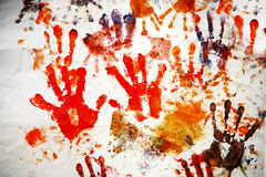 Impresiones de la mano Imagen de archivo