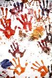 Impresiones de la mano Foto de archivo libre de regalías