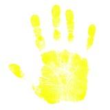 Impresiones de la mano de los niños Imágenes de archivo libres de regalías