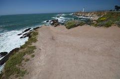 Impresiones de las Costas del Pacífico de luz de la arena del punto, California los E.E.U.U. fotos de archivo