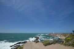 Impresiones de las Costas del Pacífico de luz de la arena del punto, California los E.E.U.U. imagenes de archivo