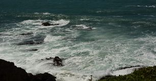 Impresiones de las Costas del Pacífico de luz de la arena del punto, California los E.E.U.U. fotografía de archivo