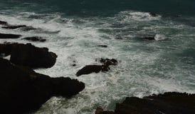 Impresiones de las Costas del Pacífico de luz de la arena del punto, California los E.E.U.U. foto de archivo libre de regalías
