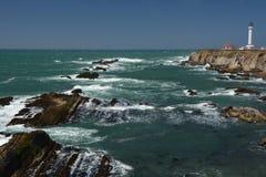 Impresiones de las Costas del Pacífico de luz de la arena del punto, California los E.E.U.U. fotografía de archivo libre de regalías