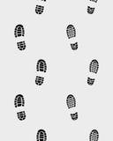 Impresiones de zapatos Fotografía de archivo