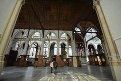 Impresiones del Oude Kerk Iglesia vieja en Amsterdam, Países Bajos Fotos de archivo libres de regalías