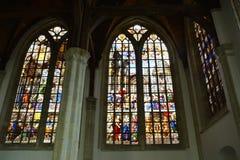 Impresiones del Oude Kerk, iglesia vieja en Amsterdam, Países Bajos Imagen de archivo