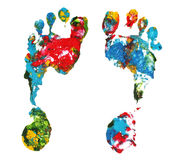 Impresiones del pie Imagen de archivo