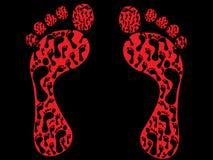 Impresiones del pie libre illustration