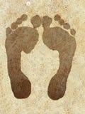 Impresiones del pie Imágenes de archivo libres de regalías