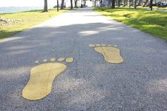 Impresiones del pie Fotografía de archivo libre de regalías