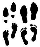 Impresiones del pie Imagen de archivo libre de regalías