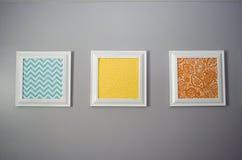 Impresiones en una pared 3 fotos de archivo libres de regalías