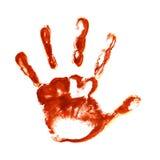 Impresiones fantasmagóricas de la mano Imagen de archivo