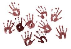 Impresiones fantasmagóricas de las manos Foto de archivo libre de regalías