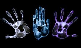 Impresiones misteriosas de la mano Imagen de archivo libre de regalías