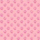 Impresiones salpicadas de la pata en rosa Imágenes de archivo libres de regalías