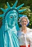 Impresionistas de señora Liberty y de Betsy Ross. Imagen de archivo