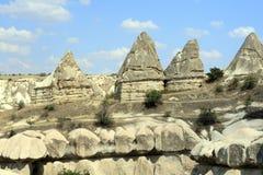 Impresive石头在Cappadokia 库存图片