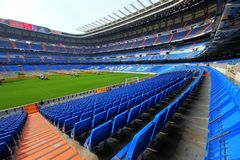 Santiago Bernabeu Stadium in Madrid. Impresive soccer stadium in Madrid. The Santiago Bernabeu is the house of Real Madrid football Team stock images