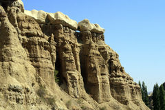 Impresive stones in Cappadokia Royalty Free Stock Photo