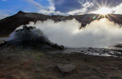 Sulfur in Iceland stock photography
