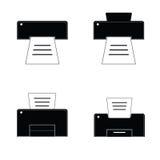 Impresora blanco y negro Fotografía de archivo libre de regalías