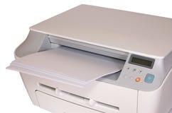 Impresora con el papel Imágenes de archivo libres de regalías