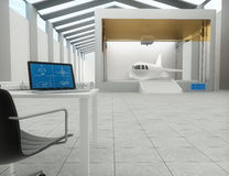 impresora 3d, imprimiendo el avión Foto de archivo libre de regalías
