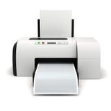 impresora 3d y documentos stock de ilustración