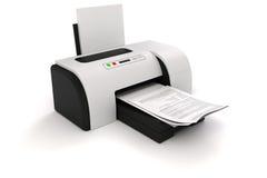 impresora 3d y documentos libre illustration