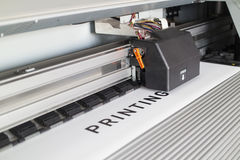 Impresora de Ecosolvent Fotografía de archivo libre de regalías