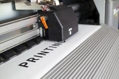 Impresora de Ecosolvent Foto de archivo libre de regalías
