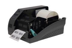 Impresora de la escritura de la etiqueta de código de barras Imagenes de archivo