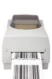 Impresora de la escritura de la etiqueta de código de barras fotografía de archivo