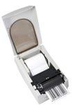 Impresora de la escritura de la etiqueta de código de barras Imágenes de archivo libres de regalías