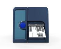 Impresora de la etiqueta de código de barras Fotos de archivo libres de regalías