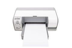 Impresora de oficina con un papel limpio para el texto Imagen de archivo