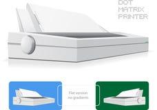 Impresora de punto de la matriz Fotografía de archivo