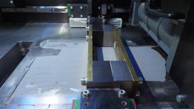 Impresora de trabajo 3D diseño de trabajo del yelement del mecanismo de la impresora 3d del dispositivo durante los procesos Impr almacen de metraje de vídeo