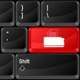 Impresora del botón del ordenador Fotografía de archivo libre de regalías
