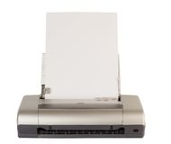 Impresora del ordenador de la tecnología Fotografía de archivo libre de regalías