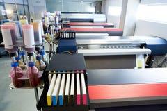 Impresora del papel de transferencia de la industria de impresión para la materia textil foto de archivo