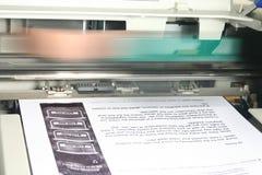 Impresora en el trabajo Foto de archivo