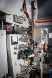 Impresora industrial de la película del cine 35m m del vintage raro con la película Fotos de archivo libres de regalías