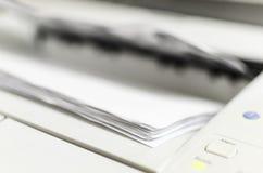 Impresora laser Printing Documents fotografía de archivo libre de regalías