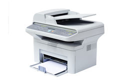 Impresora laser y explorador Foto de archivo libre de regalías