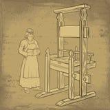Impresora medieval libre illustration