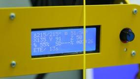 impresora Pantalla con números almacen de video